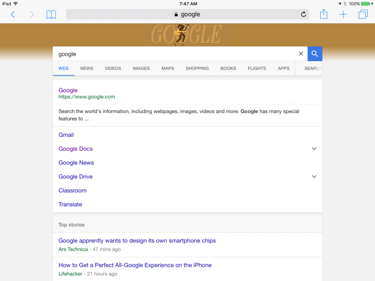Google Roll Outs New Interface for Tablets Search Results