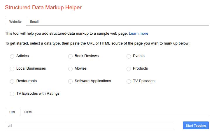 Googles-Structured-Data-Markup-Helper