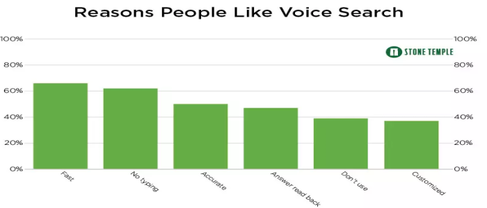 Reason to like voice search