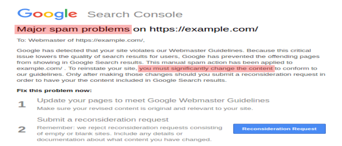 Major-Spam-Problems-Message-HIGHLIGHTED