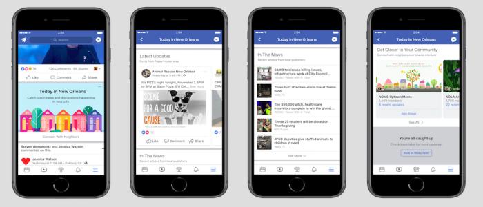 city specific Facebook app update