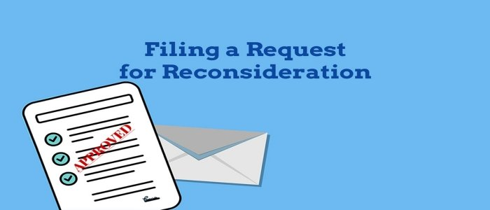 Filing A Reconsideration Request