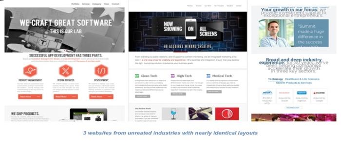 similar website design
