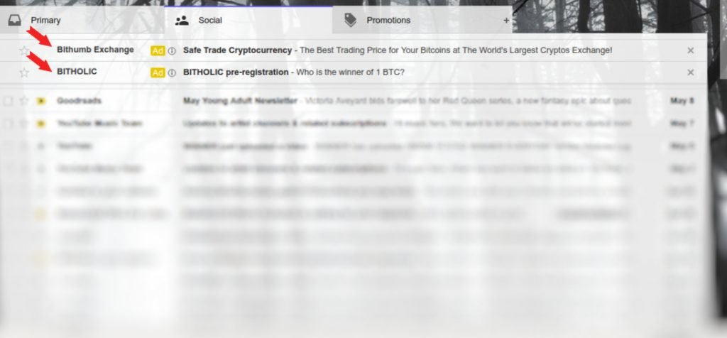 How a Gmail Remarketing Ad Looks Like